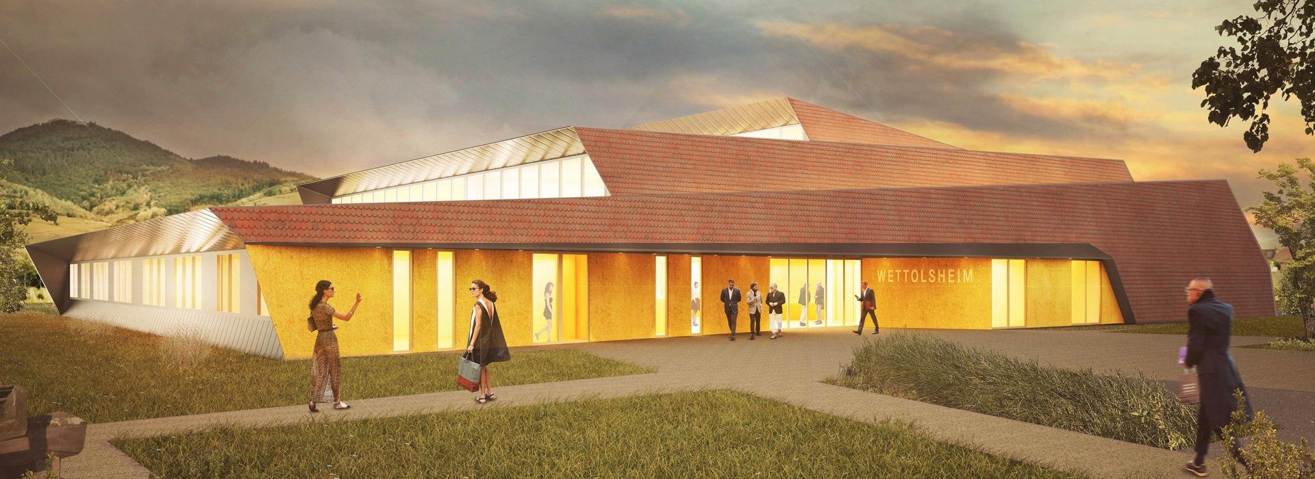 Projet architecte salle des fêtes passive Wettolsheim
