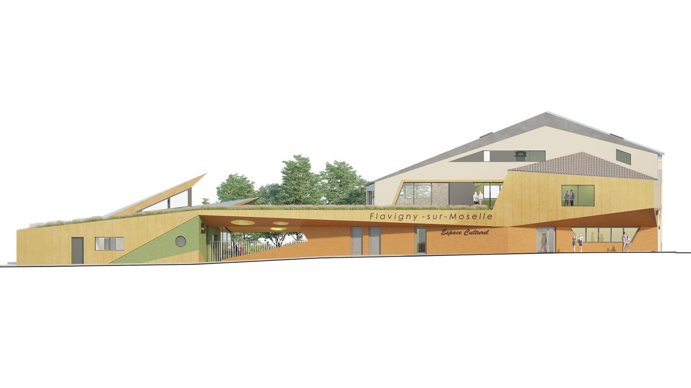 Façade Ouest résidence séniors salle multi-activité crèche