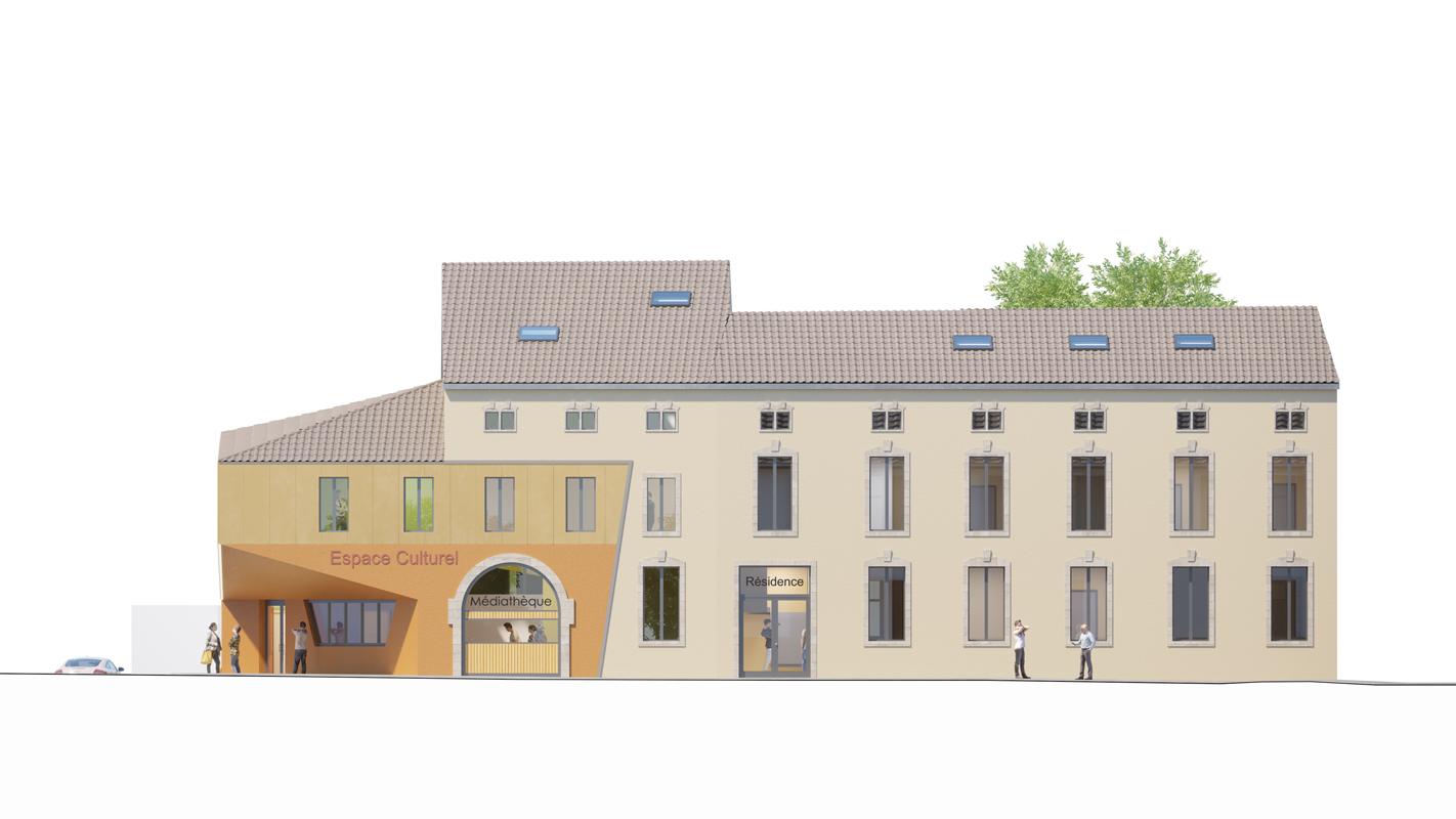 Façade Sud résidence séniors salle multi-activité crèche
