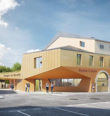 Crèche, espace culturel, résidences séniors à Flavigny-sur-Moselle