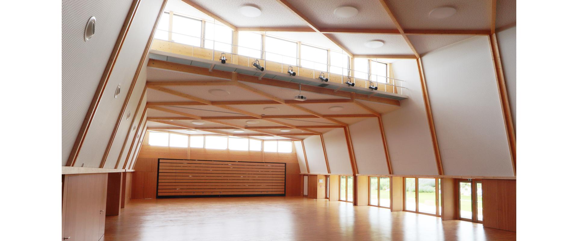 Vue intérieure salle des fêtes passive Wettolsheim