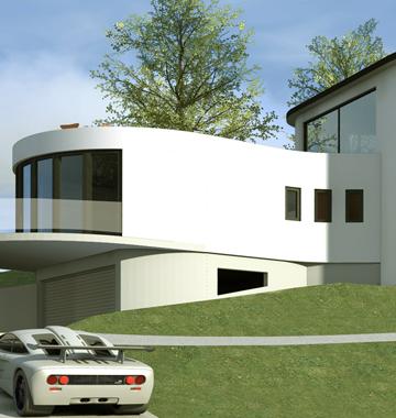 Maison arrondie à Labaroche