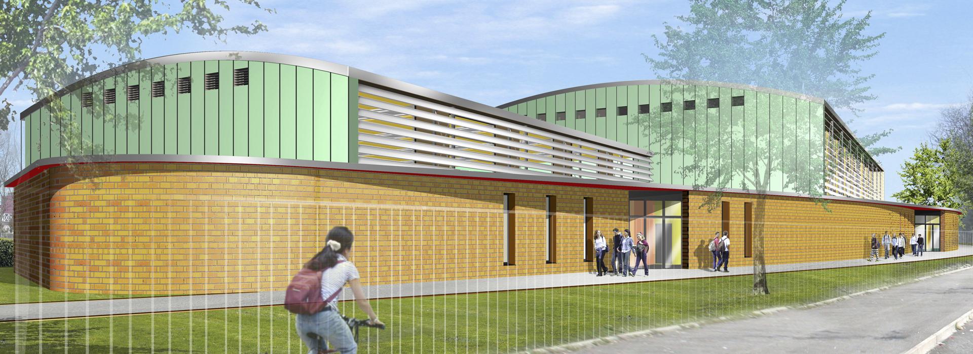 Construction gymnase Colmar salle de sport