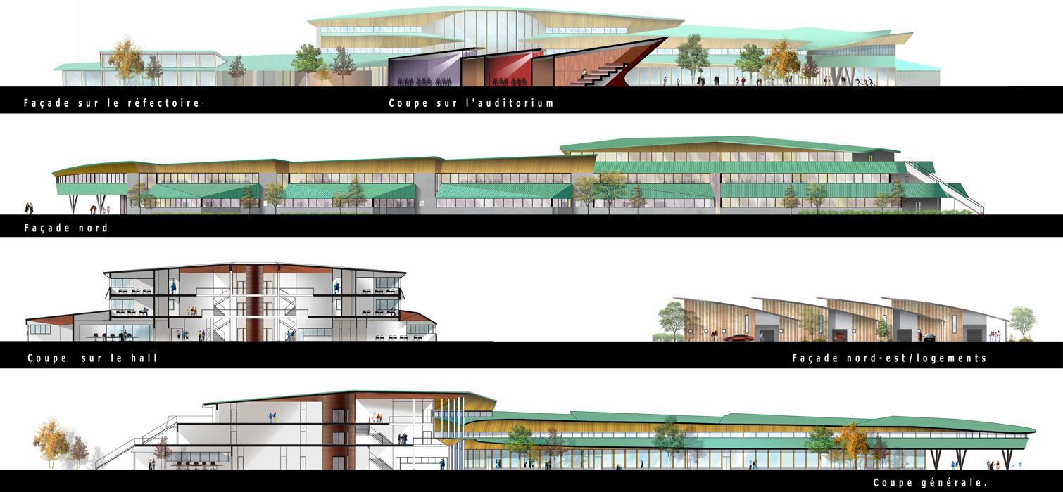 façades collège Burnhaupt-le-Haut