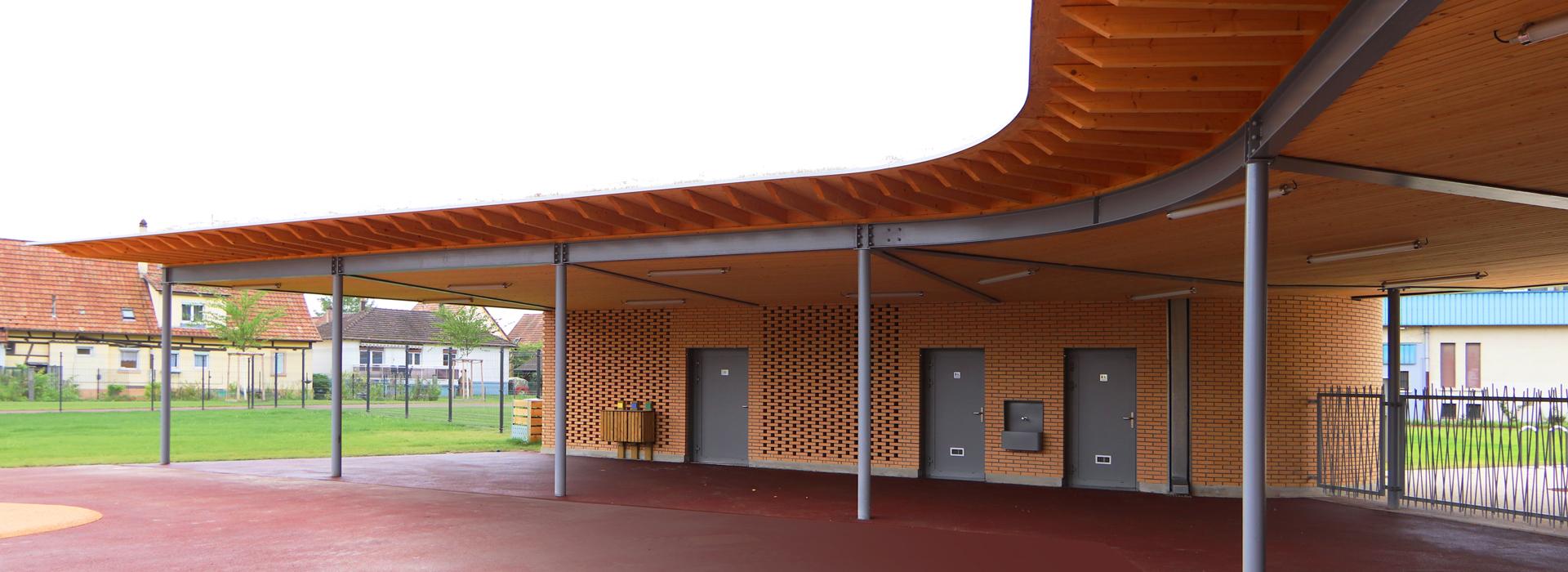 sanitaires préau École élémentaire Plobsheim