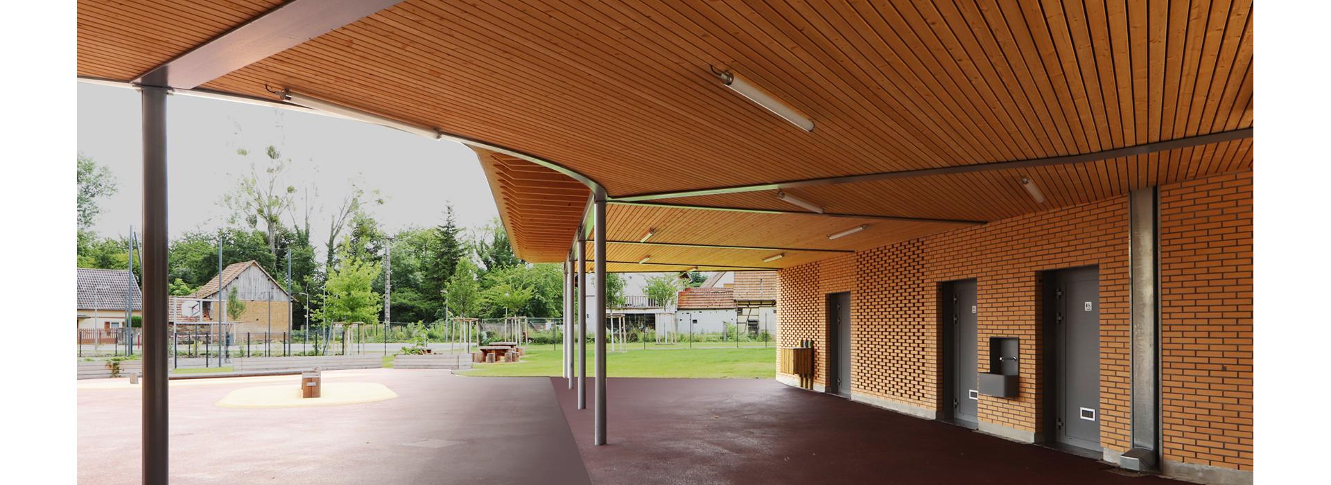 sous-face préau École élémentaire Plobsheim