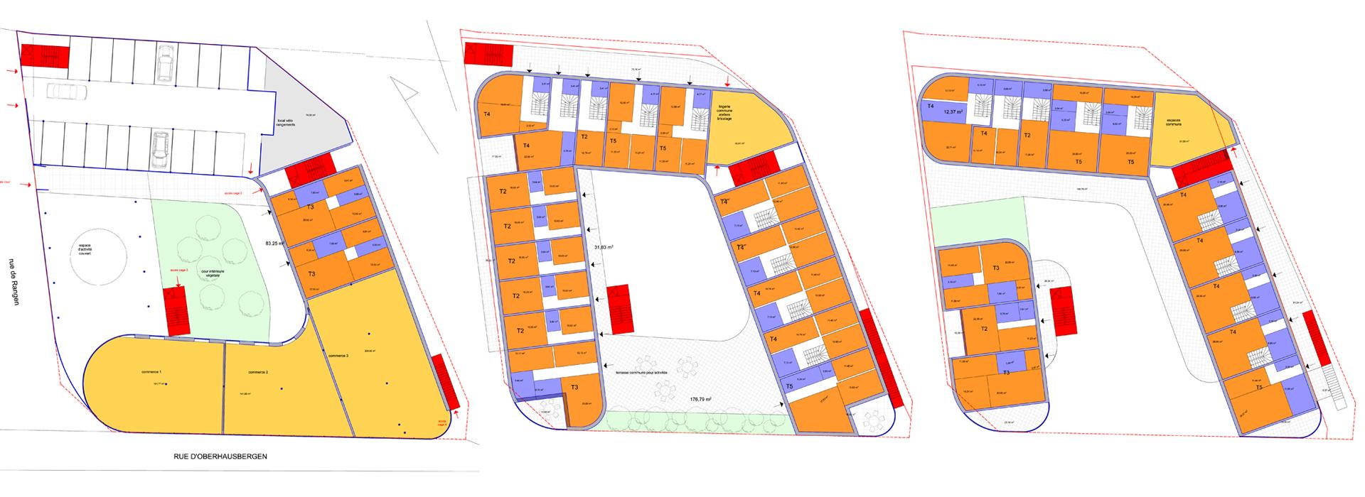 Plans Immeuble à Strasbourg en autopromotion
